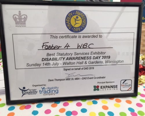 Foster4 win Best Statutory Services Exhibitor at Disability Awareness Day